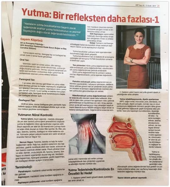 Herkes için Bilim Teknoloji Dergisi – Yutma: Bir Reflekten Daha Fazlası – 1